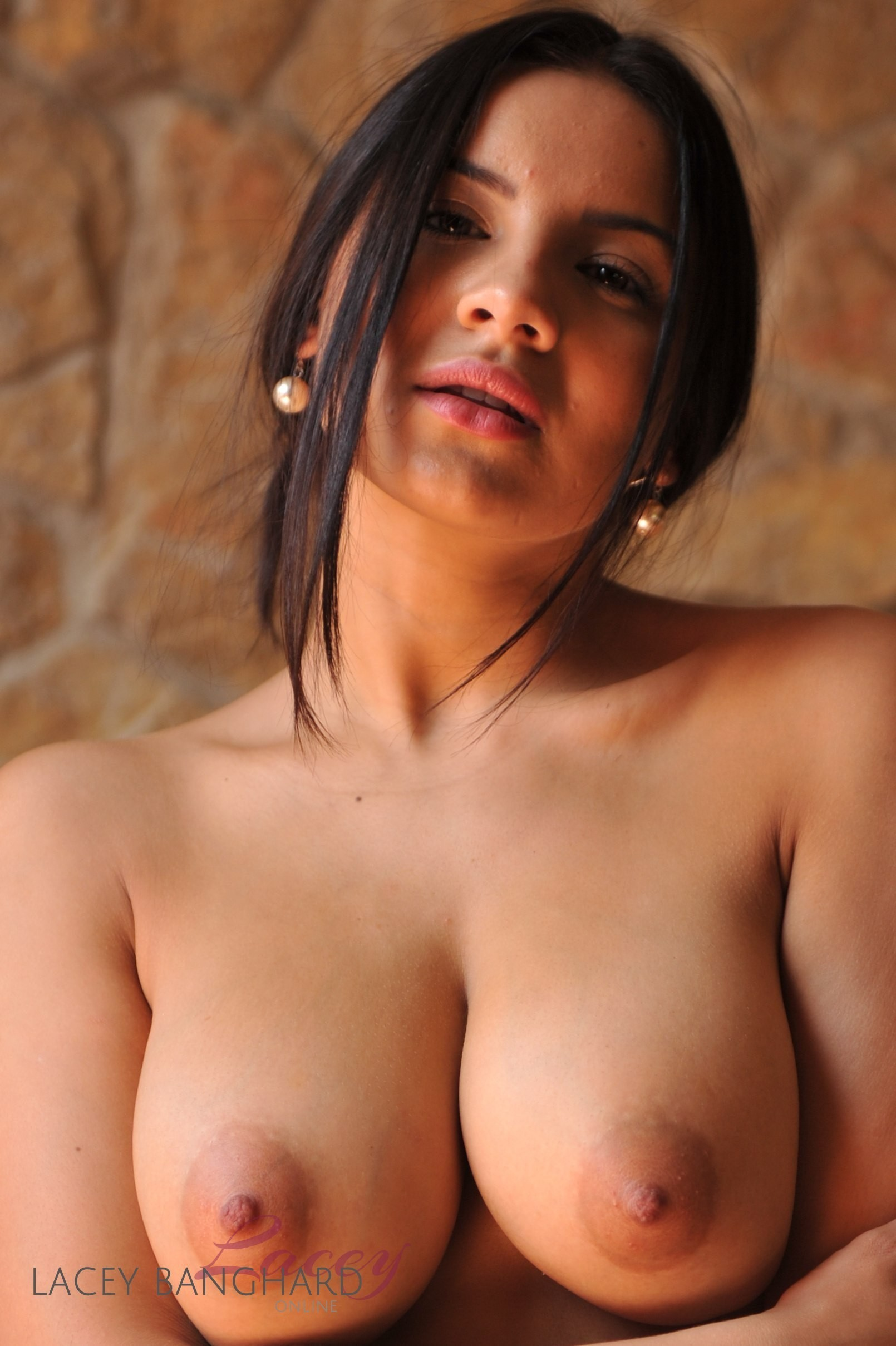 Hot brunette babe gets her extreme tits 6